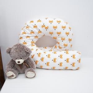 Наволочка поплин на подушку для беременных U-образная 1824/1 Лисы рыжие