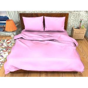 Постельное белье ситец Шуя однотонное розовый 1.5 сп