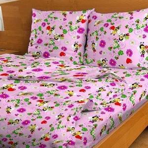 Постельное белье детское 3225/2 цвет розовый 1.5 сп.