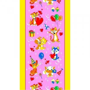 Вафельное полотно 45 см 170 гр/м2 329А цвет розовый