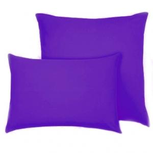 Наволочка на молнии Трикотаж цвет фиолетовый в упаковке 2 шт 70/70 см