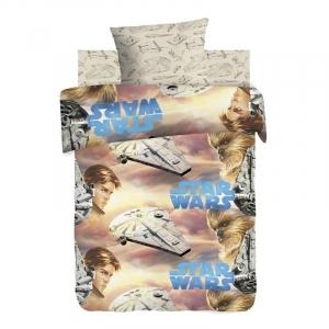 Детское постельное белье из поплина 1.5 сп Star Wars Neon (70х70) рис. 8953-1/9036-1 Хан Соло и Чуи