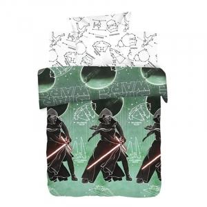 Детское постельное белье из поплина 1.5 сп Star Wars Neon (70х70) рис. 8958-1/8959-1 Созвездия