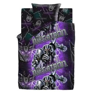 Детское постельное белье из поплина 1.5 сп Transformers Neon (70*70) рис. 8870+8895 вид 1 Мегатрон