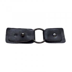 Застежка с кольцом черный никель, черный 10,5*3,5 см