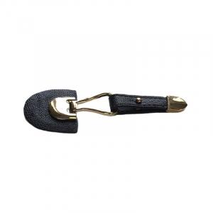 Застежка с ремешком золото, черный 11*3,5см