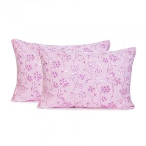 Подушка Лебяжий пух 50/70 Цветы цвет розовый
