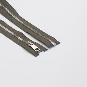 Молния металл №5СТ никель разьем 80см D034 серый