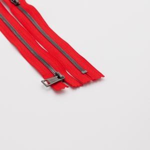 Молния металл №5СТ черный никель н/р 18см D820 красный
