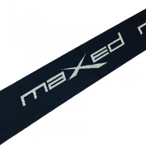 Резинка декоративная №18 черный серый надпись maxed 4см уп 10 м