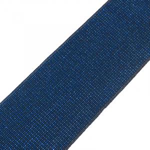 Резинка декоративная №13 черный с синим люрексом 4см уп 10 м