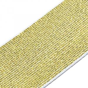Резинка декоративная 2285 золото  с люрексом 4см уп 10 м