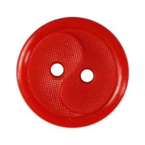 Пуговицы РП-14 2-х прокол 14 мм 51800 цвет 4410 красный упаковка 24 шт