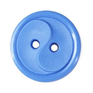 Пуговицы РП-14 2-х прокол 14 мм 51800 цвет 5304 голубой упаковка 24 шт