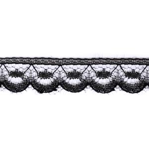 Кружево капрон 12 мм/10 м цвет 3123/123-1 черный