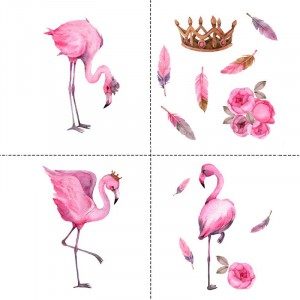 Ткань на отрез перкаль детский 150/37.5 см 06 Фламинго (4 квадрата)