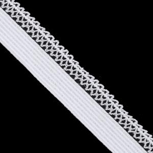 Резинка TBY бельевая ультрамягкая 12 мм RB06134 цвет F101 белый 1 метр