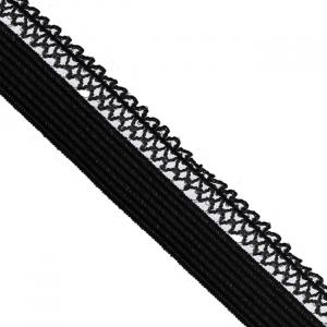 Резинка TBY бельевая ультрамягкая 12 мм RB06 цвет F322 черный 1 метр
