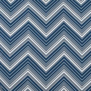 Ткань на отрез кулирка R-R3215-V2 Зигзаг цвет синий