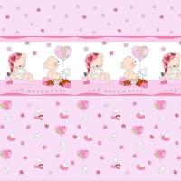 Ткань на отрез поплин 150 см 1636/4 цвет розовый