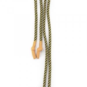 Шнур круглый желто-черный оранжевый декор наконечник узел уп 2 шт