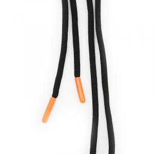 Шнур круглый оранжевый наконечник 130см черный уп 2 шт.