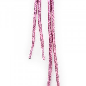 Шнур круглый розовый люрекс 110см уп 2 шт