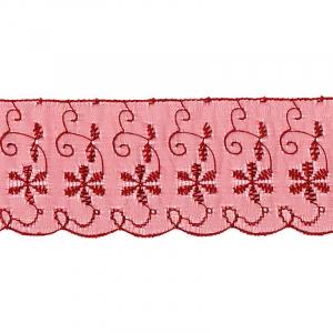 Шитье капрон 65 мм/13.7 м TJ-3101/D1991 цвет бордовый