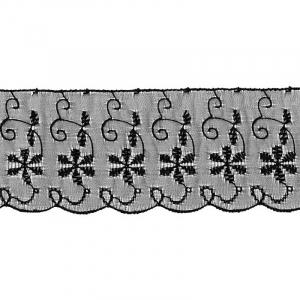Шитье капрон 65 мм/13.7 м TJ-3101/D1991 цвет черный