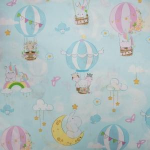 Ткань на отрез перкаль 150 см 13324/1 Воздушные шары