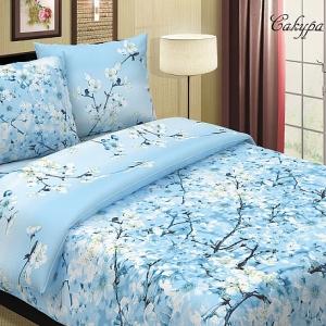 Поплин 220 см 115 г/м2 574/2 Сакура основа цвет голубой