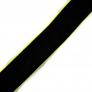 Резинка декоративная №15 черный кант неон 4см
