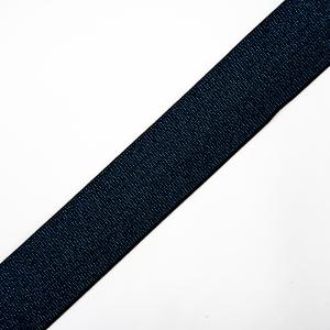 Резинка декоративная №13 черный с синим люрексом 4см