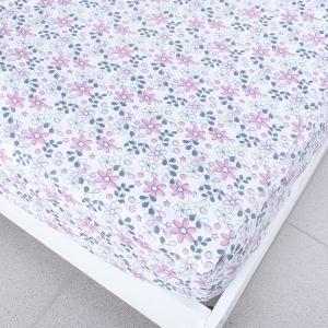 Простыня трикотажная на резинке цвет цветы21 180/200/20 см