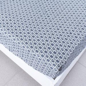 Простыня трикотажная на резинке цвет прямоугольники 180/200/20 см