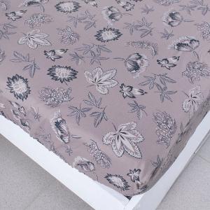 Простыня трикотажная на резинке цвет цветы34 120/200/20 см