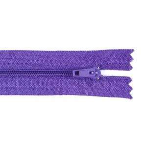 Молния пласт юбочная №3 20 см цвет фиолетовый