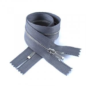 Молния металл №2 никель н/р 50см D275 серый