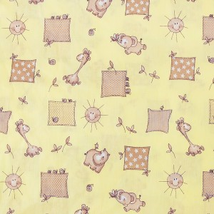 Бязь ГОСТ детская 150 см 366/4 Жирафики цвет желтый