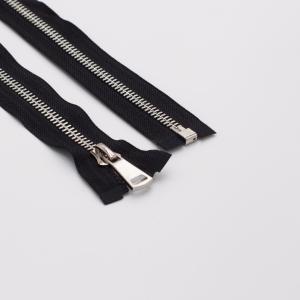 Молния металл №8ТТ  никель разъем 80см D580 черный