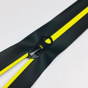 Молния спираль №7 разьем 18см водостойкая D504 желтый черная тесьма