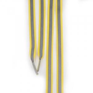 Шнур плоский желтый со светоотражающей лентой 120см уп 2 шт