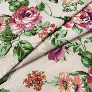 Ткань на отрез рогожка 150 см Розалия 8121/2 цвет сиреневый