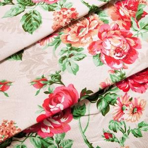 Ткань на отрез рогожка 150 см 8121/1 Розалия цвет красный