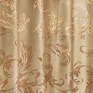 Портьерная ткань с люрексом 150 см на отрез  Х7187 цвет 1 бежевый ветка