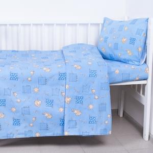 Постельное белье в детскую кроватку 366/1 Жирафики цвет голубой ГОСТ