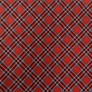 Купить ткань на отрез кулирка R4020-V2 Клетка цвет красный напрямую от производителя - 1mtkani.ru
