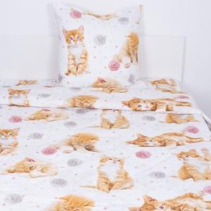 Детское постельное белье 16084/1 Рыжие котята 1.5 сп перкаль