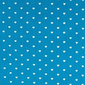 Фетр с сердечками 1 мм 30х30 см в упаковке 4 шт КЛ22481 цвет т-бирюзовый