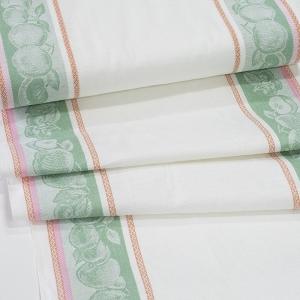 Полулен полотенечный 50 см Фруктовый микс 4243/3 зеленый